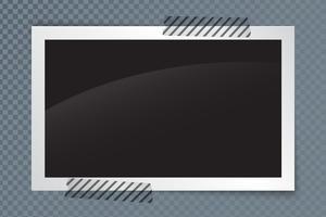 Molduras para fotos realistas com sombra e fundo transparente vetor