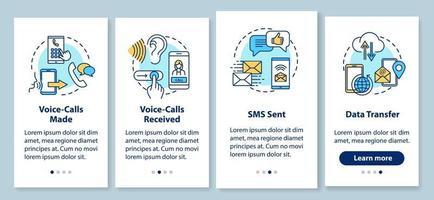 tela da página do aplicativo móvel de integração de chamadas de voz com conceitos vetor