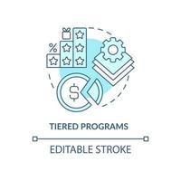 ícone de conceito azul de programas em camadas vetor