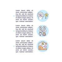 benefícios dos ícones de linha do conceito de gamificação com texto vetor