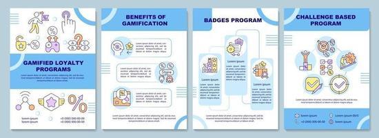 modelo de folheto de programas de fidelidade gamificado vetor
