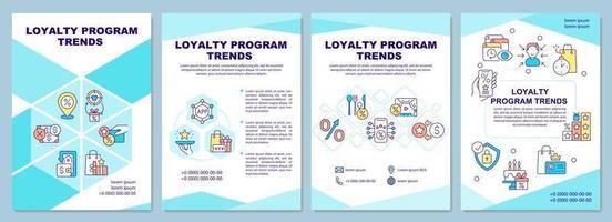 modelo de folheto de tendências de programa de fidelidade vetor