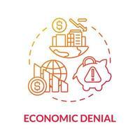 ícone de conceito de gradiente de negação econômica vetor