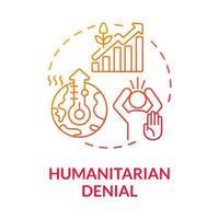ícone do conceito de negação humanitária vetor
