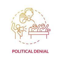 ícone de conceito gradiente de negação política vetor