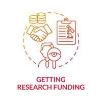 obtendo ícone do conceito de financiamento gradiente de pesquisa vetor