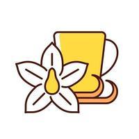 ícone de cor rgb de chá de baunilha chai vetor