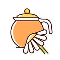 ícone de cor rgb de chá de camomila vetor