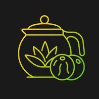 ícone de vetor gradiente de chá florescendo para tema escuro