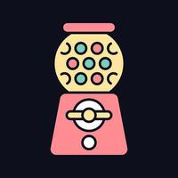 ícone de cor rgb de máquina de chicletes para tema escuro vetor