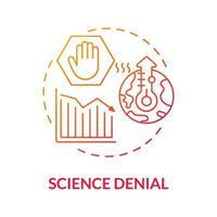 ícone de conceito gradiente de negação de ciência vetor