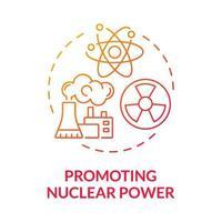 promovendo o ícone do conceito de gradiente de energia nuclear vetor