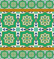 Telhas cerâmicas clássicas espanholas vetor