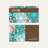 Cartões modelo com padrão de mandala islâmica oriental. vetor
