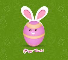 Feliz Páscoa ovos com orelhas de coelho vetor