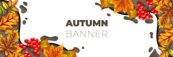 outono banner ilustração vetorial fundo vetor