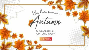 outono super venda ilustração vetorial fundo branco vetor