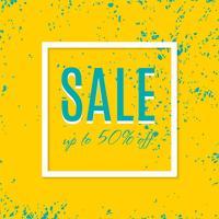 Cartaz de venda com desconto percentual