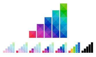 conjunto de ícone da barra de sinal com design de conceito colorido vetor