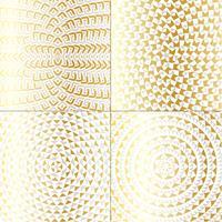 padrões de círculo metálico ouro vetor
