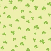 St Patricks dia fundo com padrão de trevo vetor