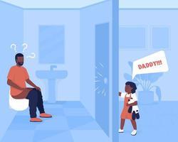 ilustração vetorial de cores planas do estresse diário dos pais vetor