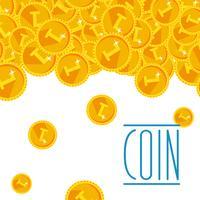 Quente dourado festivo brilhante dinheiro chuveiro fundo
