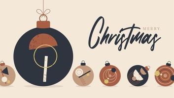 cartão do baile de natal e ano novo boho vetor