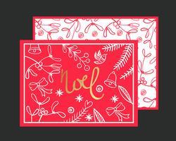 Cartão Postal Noel. vetor