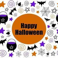 banner de clipart de vetor de halloween e design de saudação