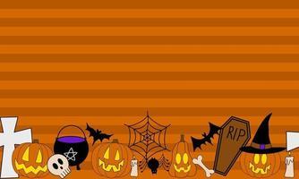quadro de vetor de halloween para banners e promoção