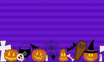 quadro de vetor de halloween para banners e promoção.