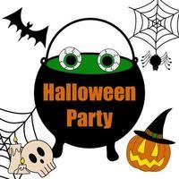 convite de banner de clipart de vetor de halloween para festa