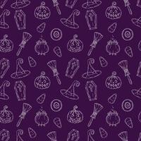 padrão sem emenda com ícones de halloween. vetor