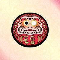Boneca tradicional japonesa Daruma
