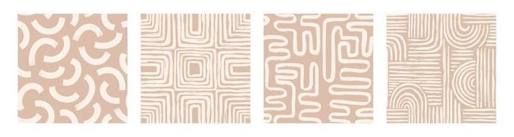 definir padrão sem costura imprimível contemporâneo com linha e forma abstratas vetor