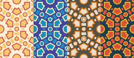 Padrão sem emenda de hexágono geométrico retrô