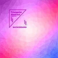 Fundo poligonal triangular vetor