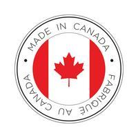 Feita no ícone de bandeira do Canadá. vetor