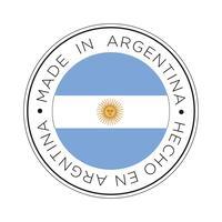 Feita no ícone de bandeira da Argentina. vetor