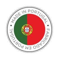 Feita no ícone de bandeira de Portugal. vetor
