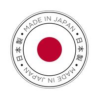Feita no ícone de bandeira do Japão. vetor