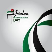 fundo de design do dia da independência da Jordânia vetor