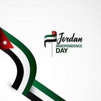 feliz dia da independência da Jordânia design plano de fundo vetor