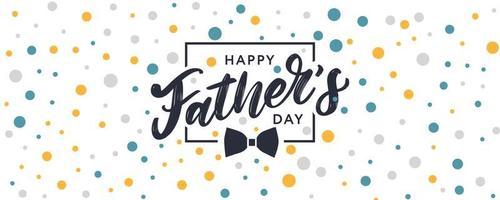 Feliz dia dos pais. letras. banner venda escova texto padrão vetor
