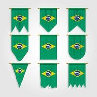 bandeira do brasil em diversos formatos, bandeira do brasil em diversos formatos vetor