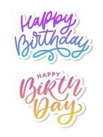 feliz aniversário escova estilo de script vetor