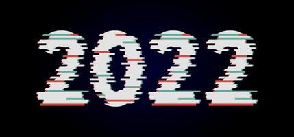 feliz ano novo 2021 2022 vetor