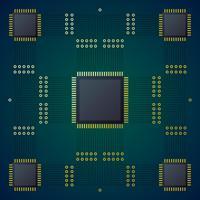 Fundo de vetor de placa de circuito de alta tecnologia