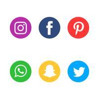 Conjunto de ícones de mídia social